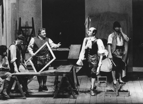 Al centro Enrico Ardizzone, Camillo Milli, Omero Antonutti