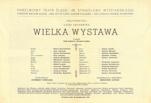 Distribuzione Wielka-Wistawa L'Esposizione-Universale 30 10 1955