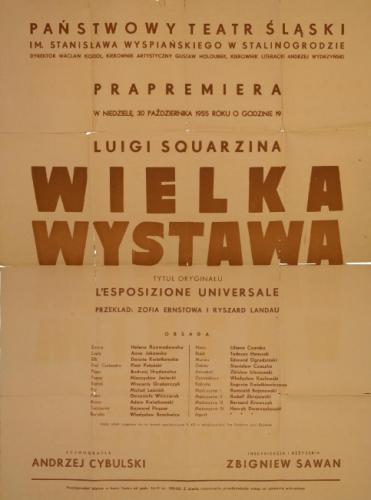 Manifesto-Wielka-Wistawa L'esposizione-Universale 30 10 1955