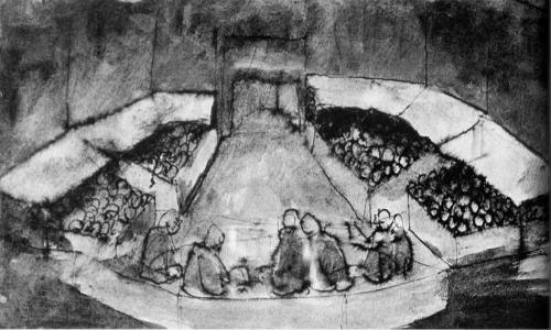 Mostre TRW Edoardo II  Bertolt Brecht bozzetto scena Parlamento